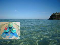 Summer Wedding Cupcakes ..... picturesque Tsilivi Beach in Zante
