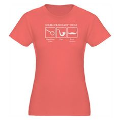 Sherlock Holmes' Tools Organic Women's Fitted T-Sh