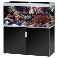 Animalerie  Ensemble aquarium/sous-meuble EHEIM incpiria 400 marine  noir brillant / argent métallisé