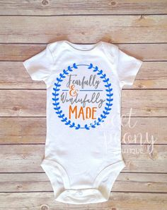 Fearfully and Wonderfully Made bodysuit by SweetPeonyBoutique