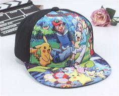 Hot Sale New Spring Summer Baby Pokemon Go Pikachu cap boy Adjustable  Baseball Cap Kids Snapback Hip-Hop Hats Sun Hat 2f7e98a91e20