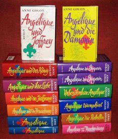 Wüssten sie wieviele Seiten haben alle Bänder der Romanreihe Angelique zusammen?  14 Bänder im Verlag Hersching haben insgesamt 6910 Seiten. Anne Golon schrieb pro Tag 17 000 Wörter.