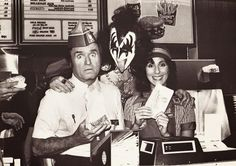 Mike Douglas, Gene Simmons and Cher, 1979