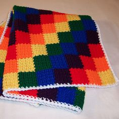 Ravelry: Wrynnes Crayon Blocks baby blanket