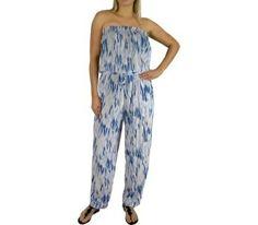 I'm selling Long Navy Jumpsuit Elastic Waist 2 sizes Tie Dye - A$59.95 #onselz
