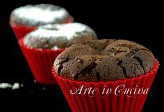 Tortine al cioccolato e albumi senza farina senza burro, ricetta torta light, torta intolleranti, torta senza zucchero, muffin senza farina, torta senza latte