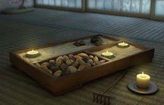 Secondo la dottrina zen, che è l'arte della meditazione, il giardino zen, in pietra e ghiaia, è il luogo che simboleggia gli elementi naturali e facilita la meditazione comunicando calma e tranquillità.