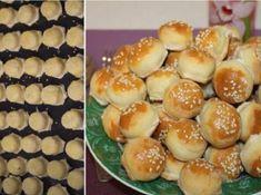 Zapomeňte na klasické chlebíčky nebo jednohubky. Napečte pro své hosty tyto slané koláčové jednohubky! Hamburger, Sushi, Bread, Ethnic Recipes, Food, Brot, Essen, Baking, Burgers