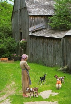 Tasha Tuder with her barn and the animals.... Love this picture.