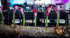 Fun centrepiece idea for weddings.  #floral #rustic #wood #events