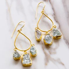 aquamarine teardrop earrings, aquamarine, earrings, jewelry, gold