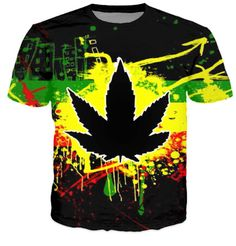 Cheap t shirts for men, Buy Quality fashion t shirt directly from China t shirt Suppliers: HipHop Men Fashion 3D T-shirts Harajuku Dark Psychedelic WEED LEAF Casual Street T Shirts For Man Free Shipping Male Tshirts