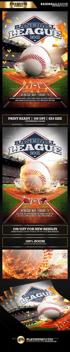 Baseball League / Baseball Flyer - Print Templates