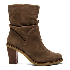 Vince Camuto Parka Bootie Shoes ($159) ❤ liked on Polyvore featuring shoes, boots, ankle booties, ankle boots, booties, high heel boots, vince camuto booties, bootie boots, taupe booties and vince camuto bootie