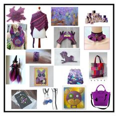 """""""Gift idea by poletsy team in purple colour"""" by black-passion ❤ liked on Polyvore"""