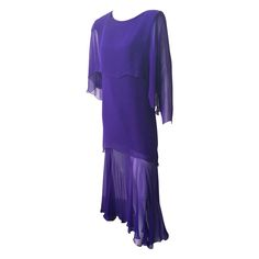Holly Harp 80s silk layered dress.   From a collection of rare vintage evening dresses at https://www.1stdibs.com/fashion/clothing/evening-dresses/