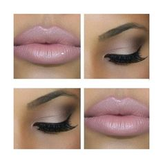 Bronze Smokey Eye Nude Lip Makeup Tutorial ❤ liked on Polyvore featuring beauty products, makeup, bronze makeup and nude cosmetics