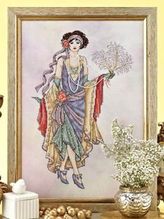 1920's Flapper: Historical Ladies #4 by Joan Elliott, Cross Stitch Collection  #225 August 2013