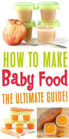 5 Homemade Baby Food Recipes to Stock Your Freezer! {Quick and Easy} - 5 Homemade Baby Food Recipes to Stock Your Freezer! {Quick and Easy} Baby Food Recipes Homemade P - # Baby Food Guide, Baby Food Recipes Stage 1, Baby Recipes, Pregnancy Food Recipes, Food Recipes For Kids, Apple Baby Food, Food Baby, Baby Apple Puree, Sweet Potato Baby Food