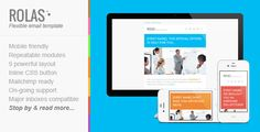 Responsive Minimalist Email Template - Rolas