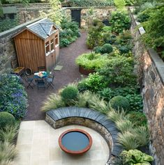 How to handle a long, narrow garden is part of Terrace garden Layout - This Edinburgh terrace has it all patio, veg patch, raised beds, seating and shed Unique Gardens, Small Gardens, Outdoor Gardens, Courtyard Gardens, Small Garden Trees, Small Back Garden Ideas, Side Gardens, Small Garden Inspiration, Narrow Garden