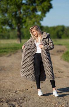 Crochet Coat, Knitted Coat, Cardigans For Women, Coats For Women, Only Cardigan, Pullover Mode, Pijamas Women, Mantel Beige, Winter Fashion