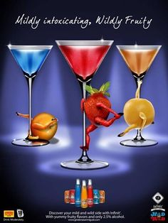 Print Ad for a local philippine mixed drink,  Art direction by yours truly