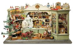 De Kleine Wereld Museum of Lier: 64 Outstanding German Wooden Toy Store Well-Laden for the Holidays