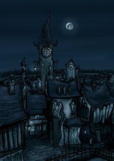 Night town by gothiclucy666.deviantart.com on @DeviantArt