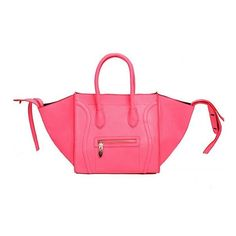 Large Tote With Extendable Sides (£3.19) ❤ liked on Polyvore featuring bags, handbags, tote bags, pink handbags, pink tote, pink purse and pink tote bag