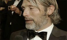 "mygoldendragonfly: "" x Gorgeous Mads Mikkelsen. Hair, beard, eyes, lips, everything. (sigh) """