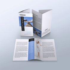 Mock-up – ulotka / leaflet – 3 x 100×210 mm