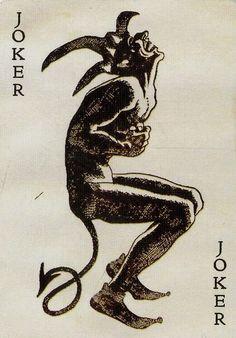 "Group of four Heath Ledger ""Joker"" playing cards from The Dark Knight Devil Tattoo, Dark Tattoo, Arte Horror, Horror Art, Joker Card Tattoo, Joker Tattoos, Omerta Tattoo, Art Du Joker, Art Bizarre"