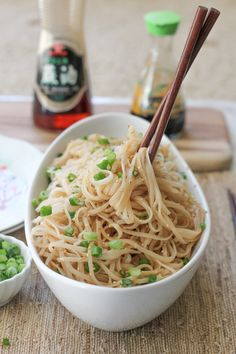 Longevity Noodles for Chinese New Year : Longevity Noodles for Chinese New Year - Very simple and easy to make. Was okay as a main dish, would definitely use it as a side dish next time. Chinese New Year Dishes, Chinese Food, Chinese New Year Noodles Recipe, Chinese China, Asian Recipes, Healthy Recipes, Ethnic Recipes, Chinese Recipes, Yummy Recipes