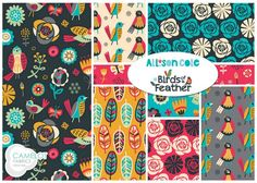 Our artist Allison Cole's new fabric collection