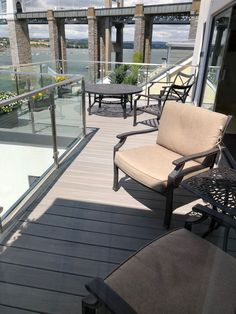 TimberTech's EasyClean Legacy Ashwood decking has a protective sleeve that keeps out moisture. fade and stain cover). Contemporary Garden Design, Our Legacy, Composite Decking, Plymouth, Gray Color, Boards, Patio, Outdoor Decor, Modern