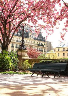 Springtime Park, Paris, France photo via aboutthe