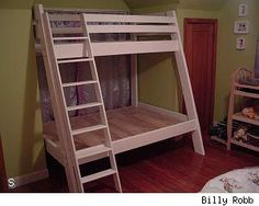 Found it!!  Build a twin over full mattress bunk bed with standard lumber - DIY Life