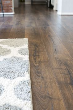 Beautiful Vintage Tobacco Oak Flooring - a gorgeous laminate flooring from Pergo that we've installed in our whole downstairs.
