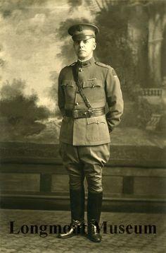 Photograph of Dr. W. J. White in WWI uniform, ca. 1914-1920. (Longmont Museum & Cultural Center)
