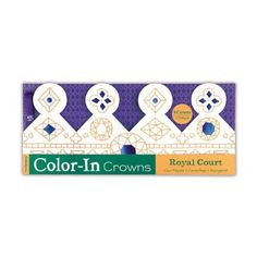 Mudpuppy Royal Court Color-In Crowns:Amazon:Toys & Games
