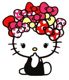 Hello Kitty heehee all the bows Sanrio Hello Kitty, Hello Kitty Art, Hello Kitty Tattoos, Here Kitty Kitty, Hello Kitty Pictures, Kitty Images, Little Twin Stars, Kawaii, Hallo Kitty