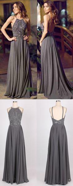 2017 prom dresses,long prom dresses,backless prom dresses,grey prom dresses,sexy prom dresses @simpledress2480