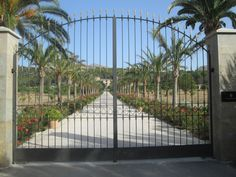 The gated entrance to the luxurious Castell Son Claret Entrance Gates, Luxury, Entry Gates