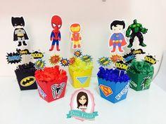 Centro de Mesa - Super Heróis