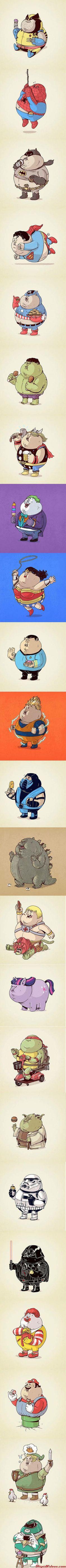 Americanized Cartoon Characters