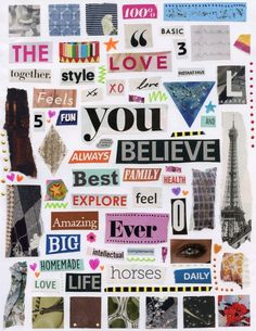 Michaels Arts And Crafts Coupon Key: 2289768197 Word Collage, Collage Book, Photo Wall Collage, Collage Sheet, Magazine Collage, Collage Design, Aesthetic Stickers, Good Notes, Cute Stickers
