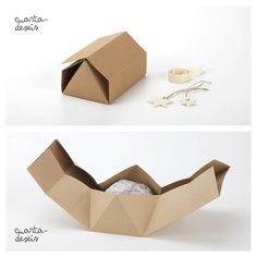 DIY rokkaku hexagonal house gift box from cuartadeseis - caja casita (origata). If you e-mail Puri Mollá she'll send you the (visual) tutorial and template. No language skills necessary. Thank you Puri! So very nice of you! http://cuartadeseis.blogspot.com.es/2012/11/caja-casita-origata.html