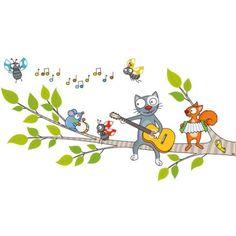 Ce sticker une chanson douce de la marque Série-Golo apporte un décor ludique et coloré à la chambre d'un enfant.