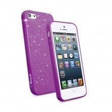 Housse iPhone 5 Muvit - Minigel Fina Glitter Violet avec Film Protection  13,99 €